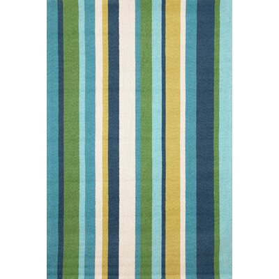 Bockman Seaside Vertical Stripe Indoor/Outdoor Area Rug Rug Size: 76 x 96