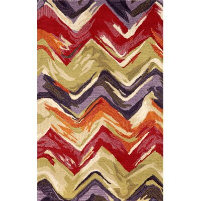 Terrill Hand Tufted Wool Red/Purple Area Rug Rug Size: Rectangle 8 x 10