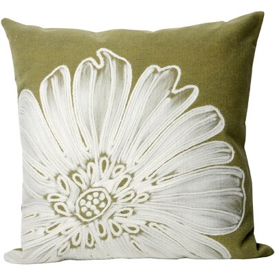 Kaitlyn Antique Medallion Outdoor Throw Pillow Size: 20 x 20, Color: Green