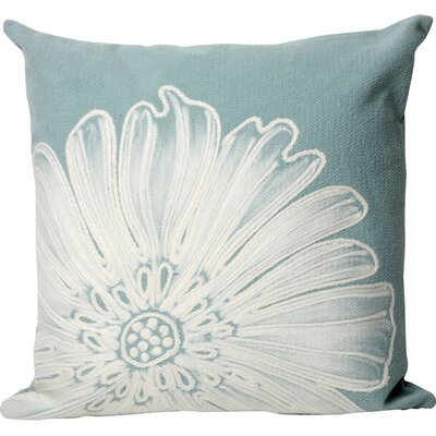 Kaitlyn Antique Medallion Outdoor Throw Pillow Size: 20 x 20, Color: Aqua