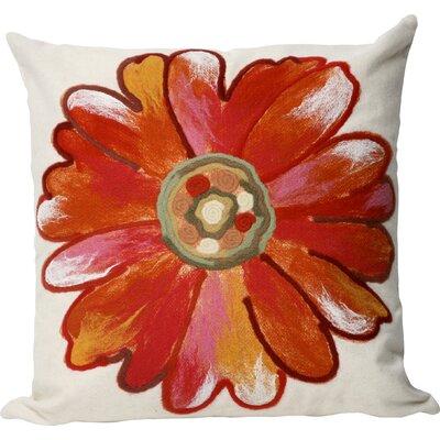 Kara Daisy Indoor/Outdoor Throw Pillow Size: 20 x 20, Color: Orange