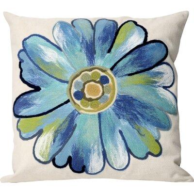 Kara Daisy Indoor/Outdoor Throw Pillow Size: 20 x 20, Color: Aqua