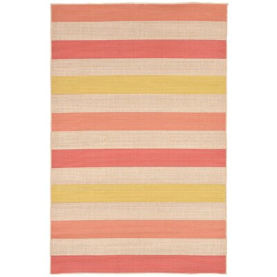Orange Pink/Yellow Indoor/Outdoor Area Rug Rug Size: 33 x 411