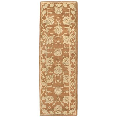 Eugenie Hand-Tufted Khaki Area Rug Rug Size: Runner 23 x 8