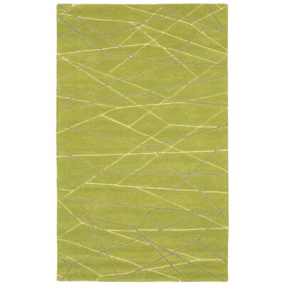 Tenorio Hand Tufted Wool Green Area Rug Rug Size: Rectangle 5 x 8