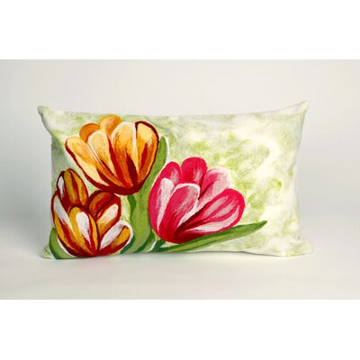 Gaillac Tulips in Warm Indoor/Outdoor Lumbar Pillow