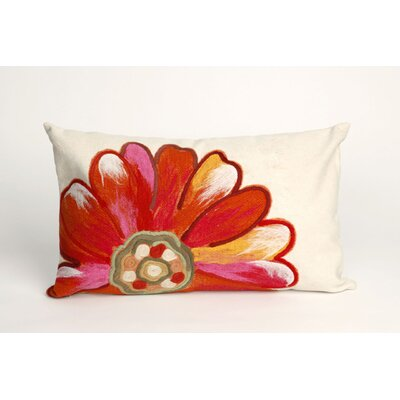 Kara Daisy Outdoor Lumbar Pillow Color: Orange