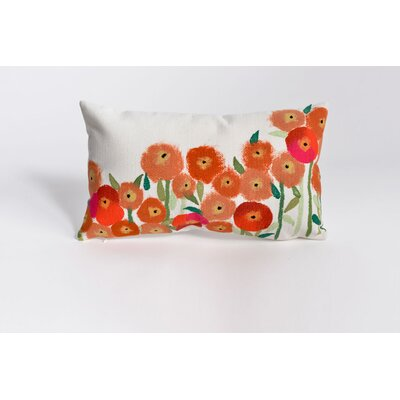 Kaylee Poppies Indoor/Outdoor Lumbar Pillow