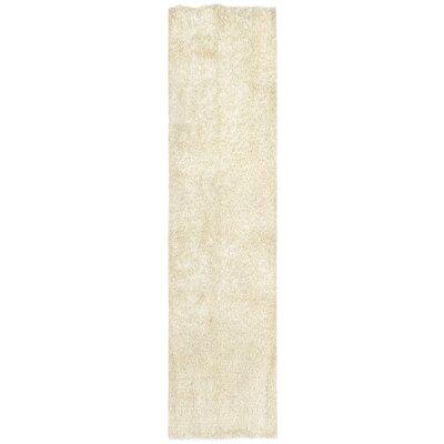 Bali Hand-Woven Ivory Indoor/Outdoor Area Rug Rug Size: Runner 2 x 8