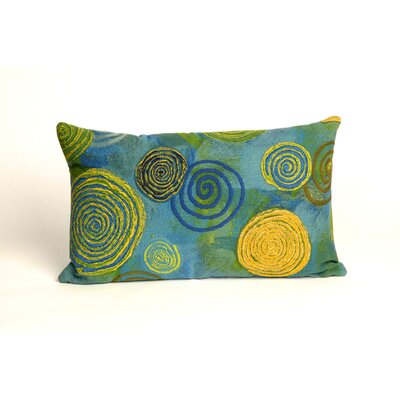 Schuykill Graffiti Swirl Outdoor Lumbar Pillow Color: Cool
