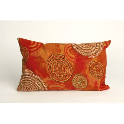 Nordmeyer Graffiti Swirl Outdoor Lumbar Pillow Color: Warm