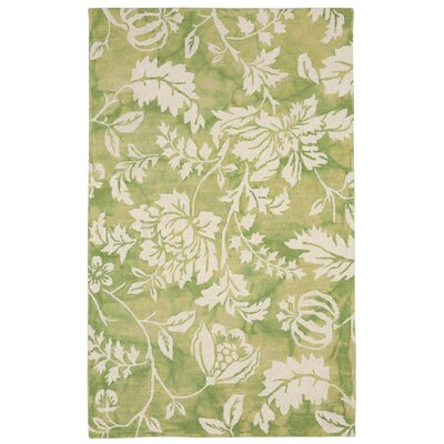 Jadu Hand-Tufted Wool Green Area Rug Rug Size: Rectangle 5' x 8'