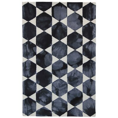 Beaton Hand-Tufted Gray/Black Area Rug Rug Size: 5' x 8'