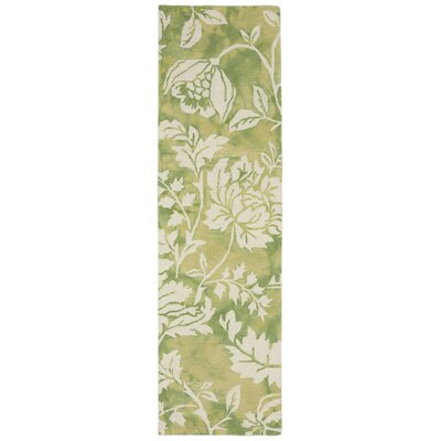 Jadu Hand-Tufted Wool Green Area Rug Rug Size: Runner 23 x 8