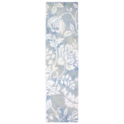 Levittown Hand-Tufted Blue Area Rug Rug Size: Runner 23 x 8