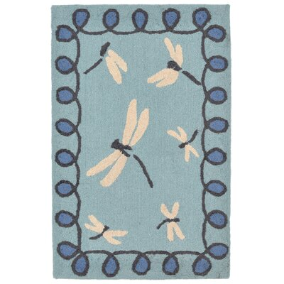 Napa Hand-Tufted Blue Indoor/Outdoor Area Rug Rug Size: 83 x 116