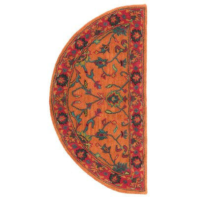 Eugenie Hand-Tufted Orange Area Rug