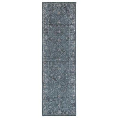 Adella Hand-Tufted Blue Indoor/Outdoor Area Rug Rug Size: Runner 23 x 8