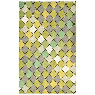 Shelburne Hand-Tufted Sage Area Rug Rug Size: 36 x 56