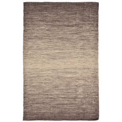 Buckeys Hand-Woven Gray Indoor/Outdoor Area Rug Rug Size: 76 x 96