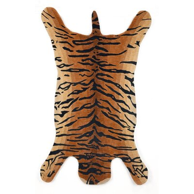 Bowdens Brown Tiger Area Rug Rug Size: 5 x 8