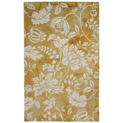 Levittown Hand-Tufted Gold Area Rug Rug Size: 5 x 8