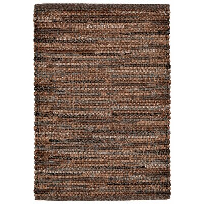 Sardis Hand-Woven Brown Indoor/Outdoor Area Rug Rug Size: 76 x 96