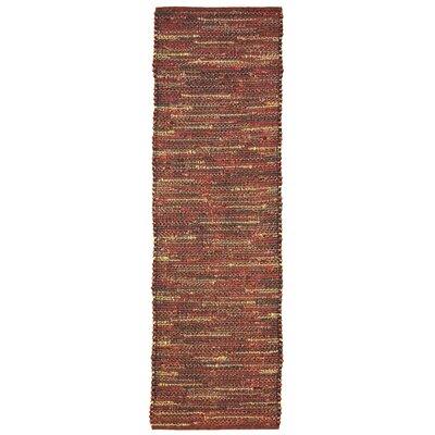 Sardis Hand-Woven Red Indoor/Outdoor Area Rug Rug Size: Runner 2 x 8