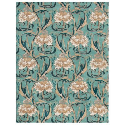 Nouveau Hand-Tufted Blue Area Rug Rug Size: Rectangle 36 x 56