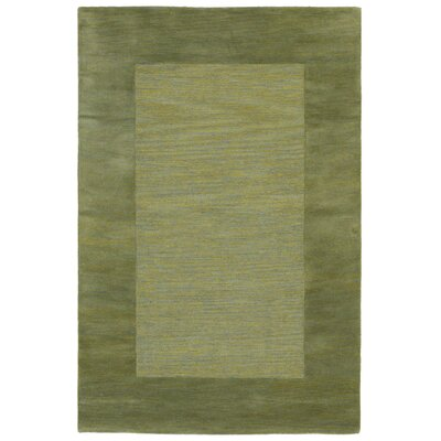 Mercer Hand-Tufted Green Area Rug Rug Size: 36 x 56