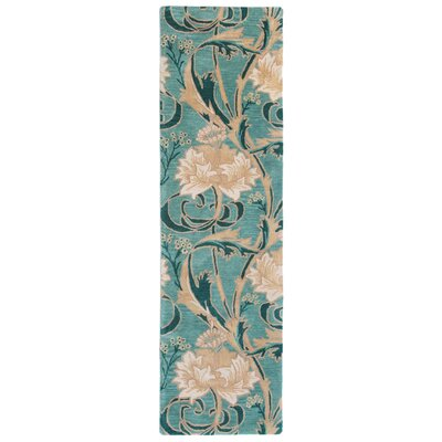 Nouveau Hand-Tufted Blue Area Rug Rug Size: Runner 23 x 8