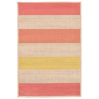 Orange Pink/Yellow Indoor/Outdoor Area Rug Rug Size: 111 x 211