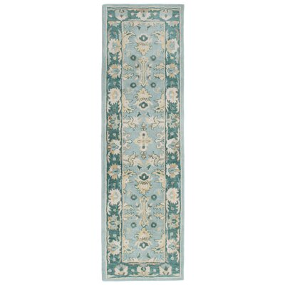 Eugenie Hand-Tufted Aquamarine Area Rug Rug Size: Runner 23 x 8