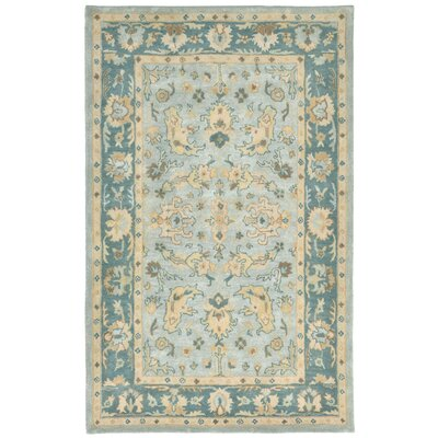 Eugenie Hand-Tufted Aquamarine Area Rug Rug Size: 9 x 13