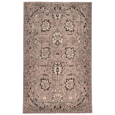 Eugenie Hand-Tufted Brown Area Rug Rug Size: 5' x 8'
