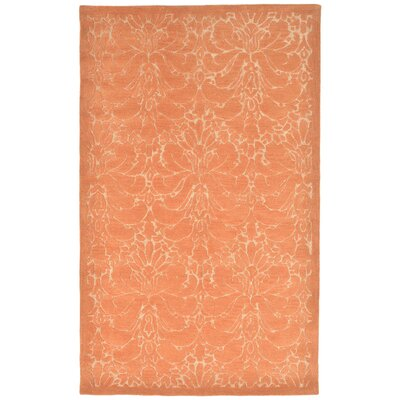 Tenorio Hand-Tufted Orange Area Rug Rug Size: 5 x 8