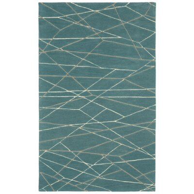 Tenorio Hand-Tufted Blue Area Rug Rug Size: 5 x 8