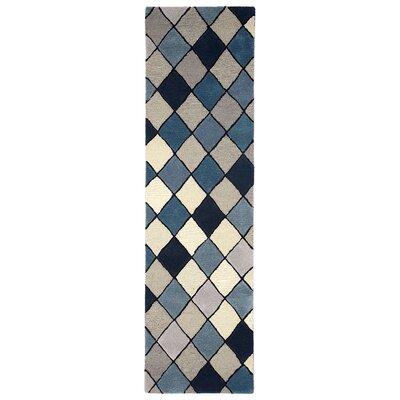 Shelburne Hand-Tufted Blue Area Rug Rug Size: Runner 23 x 8