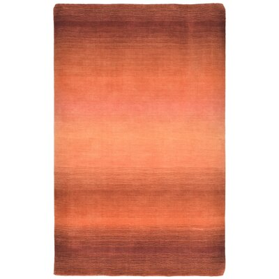 Buckey Hand-Loomed Orange Area Rug Rug Size: 5 x 8