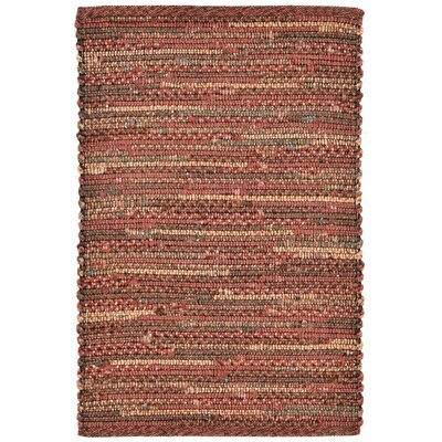 Sardis Hand-Woven Red Indoor/Outdoor Area Rug Rug Size: 36 x 56