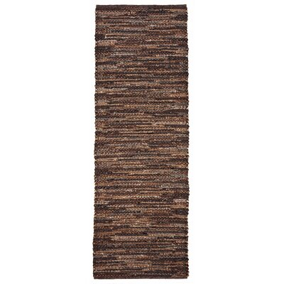 Sardis Hand-Woven Brown Indoor/Outdoor Area Rug Rug Size: Runner 2 x 8