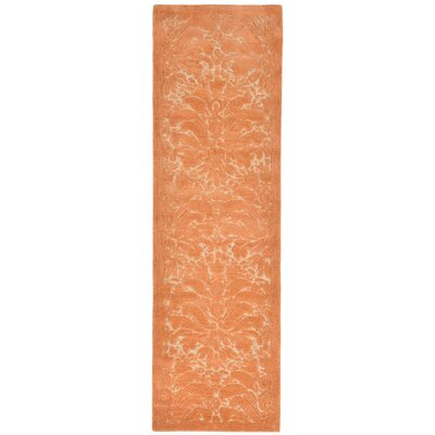Tenorio Hand-Tufted Orange Area Rug Rug Size: Runner 23 x 8