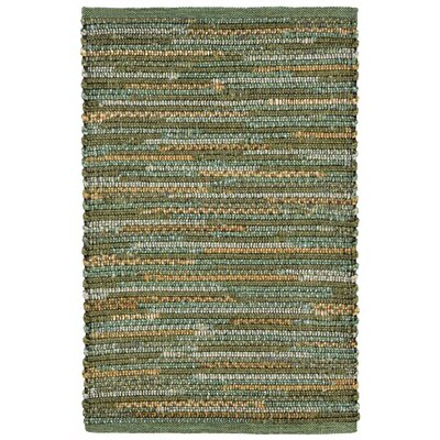 Sardis Hand-Woven Green Indoor/Outdoor Area Rug Rug Size: 36 x 56