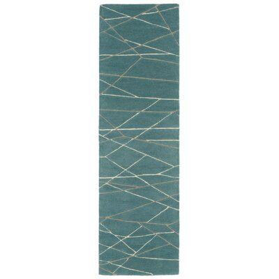 Tenorio Hand-Tufted Blue Area Rug Rug Size: Runner 23 x 8