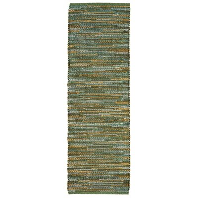 Sardis Hand-Woven Green Indoor/Outdoor Area Rug Rug Size: Runner 2 x 8