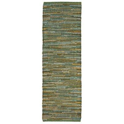 Sardis Hand-Woven Green Indoor/Outdoor Area Rug Rug Size: Runner 2 x 8