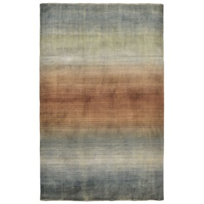Buckey Hand-Loomed Blue Area Rug Rug Size: 5 x 8