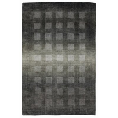 Buckey Hand-Loomed Gray Area Rug Rug Size: 9 x 13