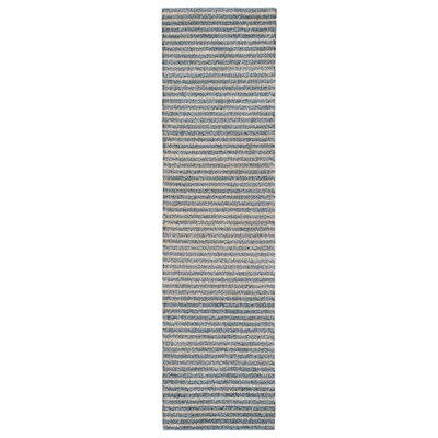 Bogard Hand-Tufted Blue Indoor/Outdoor Area Rug Rug Size: Runner 2 x 8