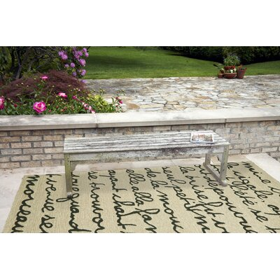 Collingdale Black/Ivory Indoor/Outdoor Area Rug Rug Size: Rectangle 76 x 96